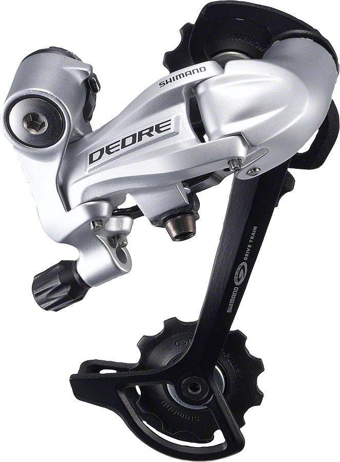 Shimano Deore RD-M591-SGS Rear Derailleur - 9 Speed, Long Cage, Silver-Bicycle Derailleur Components-Shimano-Voltaire Cycles of Highlands Ranch Colorado