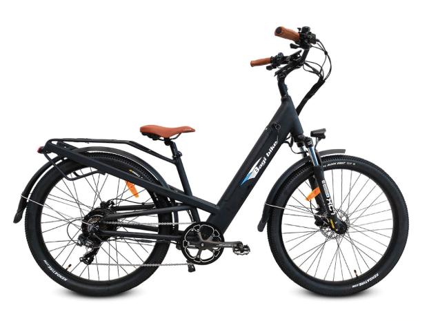 Bagi Bike B27 Comfort Cruiser-Electric Bicycle-Bagi Bike-Black-Voltaire Cycles of Highlands Ranch Colorado