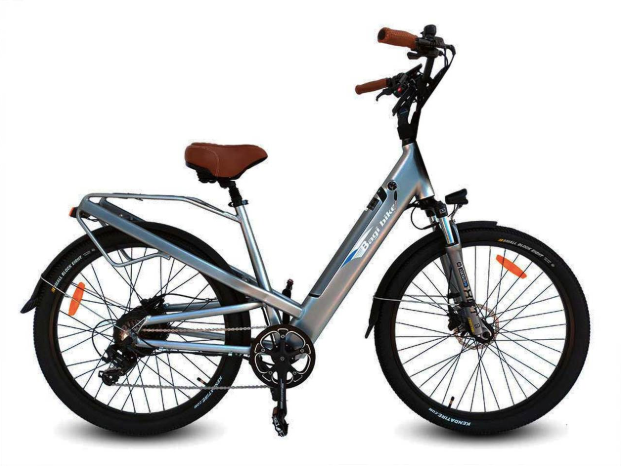 Bagi Bike B27 Comfort Cruiser Trail ST-Electric Bicycle-Bagi Bike-Grey-Voltaire Cycles of Highlands Ranch Colorado