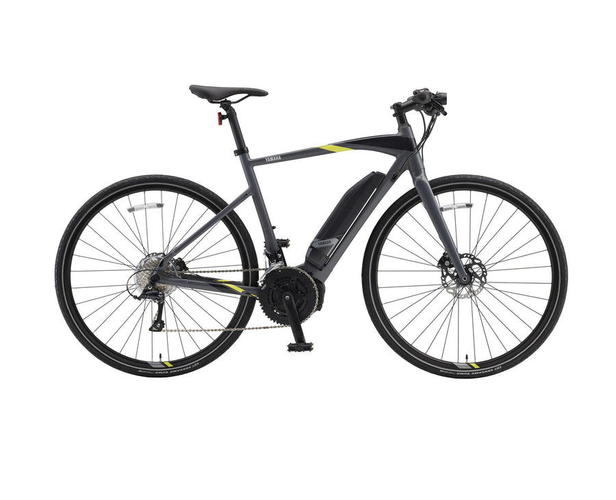 Yamaha Cross Core E-Bike-Electric Bicycle-Yamaha-Medium (55 cm)-Slate Gray-Voltaire Cycles of Highlands Ranch Colorado