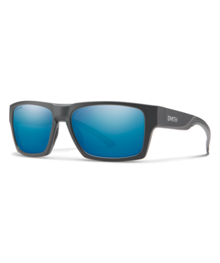 Outlier 2-eyewear-Smith Optics-Matte Charcoal || ChromaPop Polarized Blue Mirror-Voltaire Cycles of Highlands Ranch Colorado