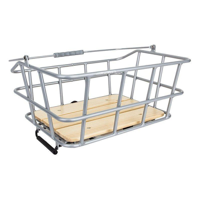 Sunlite Woody QR Rack Top Basket-Bicycle Baskets-Sunlite-Voltaire Cycles of Highlands Ranch Colorado