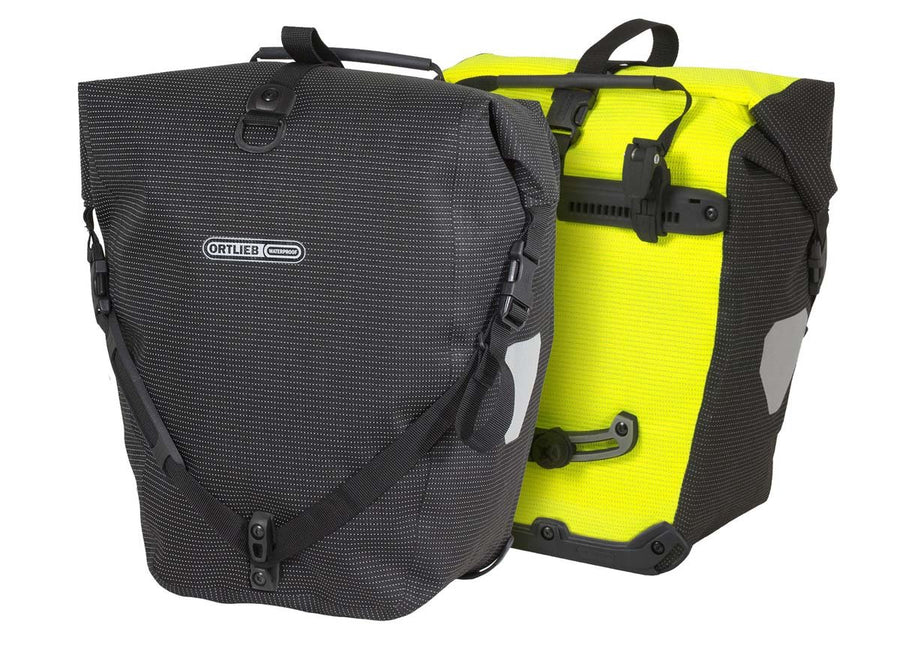 Ortlieb Back-Roller High Visibility-Bicycle Panniers-Ortlieb-Neon Yellow-Black Reflective-Voltaire Cycles of Highlands Ranch Colorado
