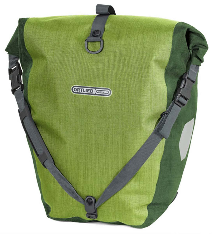 Ortlieb Back-Roller Plus (Pair)-Bicycle Panniers-Ortlieb-Lime-Moss-Voltaire Cycles of Highlands Ranch Colorado