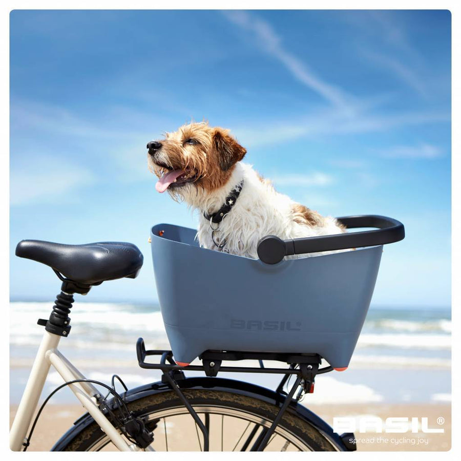 Basil Buddy Rear Bicycle Pet Basket-Bicycle Baskets-Basil-Voltaire Cycles of Highlands Ranch Colorado