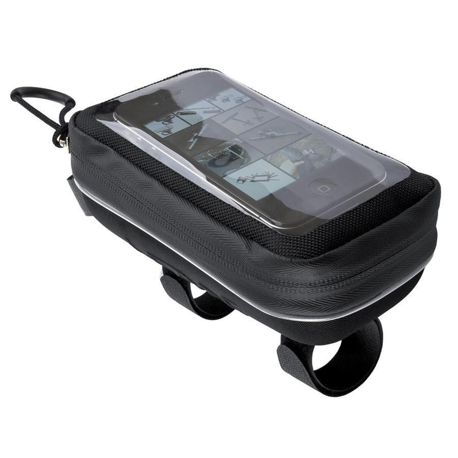 Lezyne Smart Energy Caddy Top Tube Bike Bag and Phone Holder-Bicycle Frame Bags-Lezyne-Voltaire Cycles of Highlands Ranch Colorado