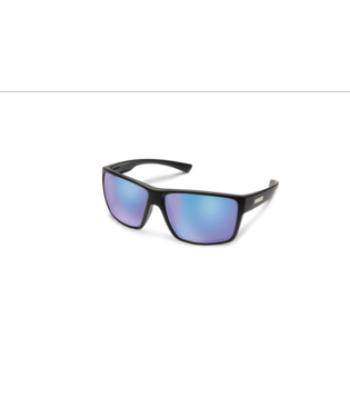 Suncloud Hawthorne Sunglasses-eyewear-Suncloud-Matte Black || Polarized Blue Mirror-Voltaire Cycles of Highlands Ranch Colorado