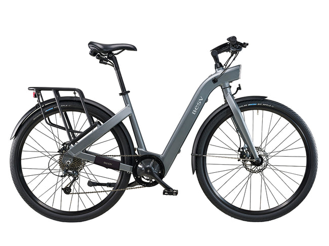 BESV CF1 700c Electric Bicycle-Electric Bicycle-BESV-Gray-Voltaire Cycles of Highlands Ranch Colorado