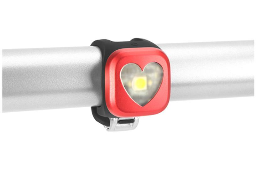 Knog Blinder 1 Rechargeable Rear Light-Bicycle Lights-KNOG-Red Heart-Voltaire Cycles of Highlands Ranch Colorado