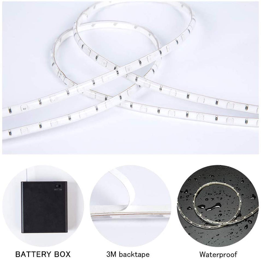 DANCRA LED Strip Light Battery Powered R,G,B Color Changing Flexible LED Strip-Voltaire Cycles | Highlands Ranch, CO 80126-Voltaire Cycles of Highlands Ranch Colorado