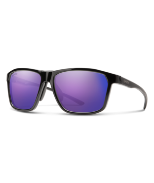 Smith Pinpoint Sunglasses-Eyewear-Smith Optics-Black || ChromaPop Violet Mirror-Voltaire Cycles of Highlands Ranch Colorado