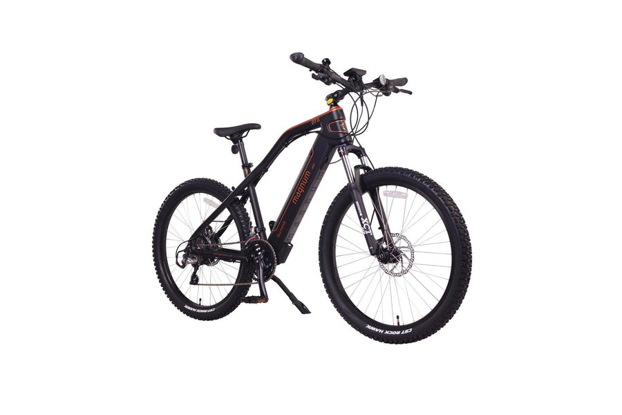 "Magnum Summit 27"" eMTB Electric Bicycle-Electric Bicycle-Magnum-Orange-Voltaire Cycles of Highlands Ranch Colorado"