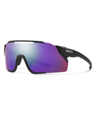 Smith Attack MAG MTB Sunglasses-Smith Optics-Matte Black || ChromaPop Violet Mirror-Voltaire Cycles of Highlands Ranch Colorado