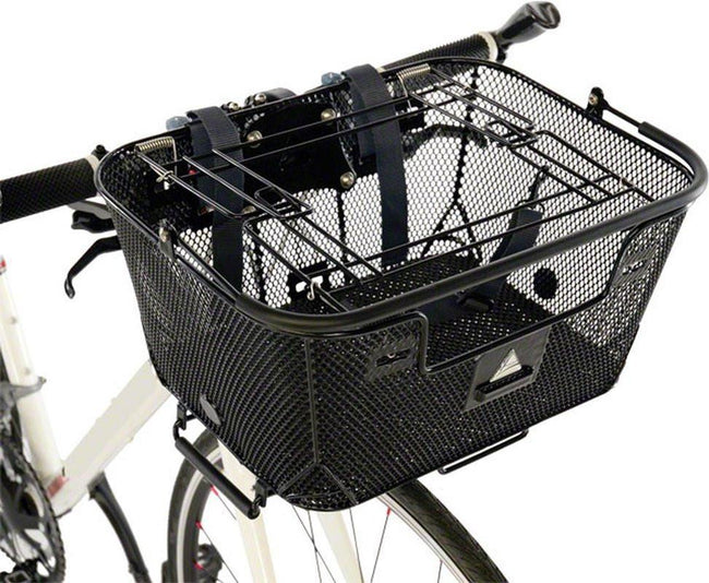 Axiom Pet Bicycle Basket with Rack and Handlebar Mounts: Black-Bicycle Baskets-Axiom-Voltaire Cycles of Highlands Ranch Colorado