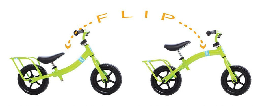 Yuba Flip Flop Cow Children's Balance Bike-Basic Bicycles-Yuba-Voltaire Cycles of Highlands Ranch Colorado