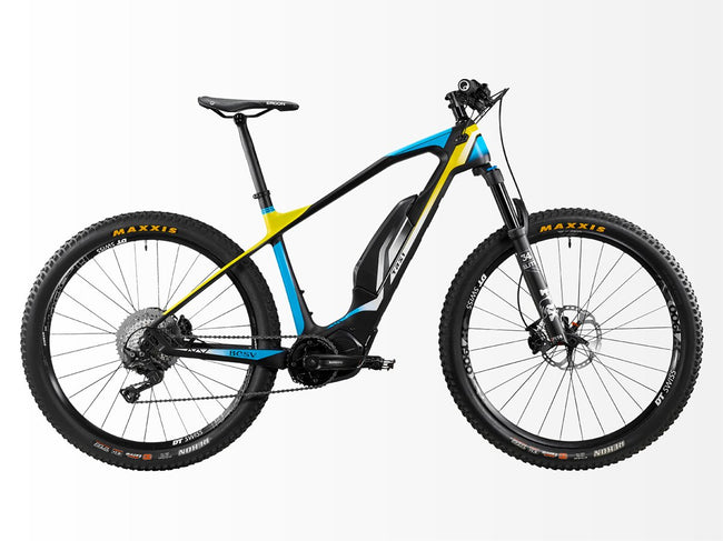 BESV TRS1-Electric Bicycle-BESV-Matte Black / Blue / Neon Yellow-Voltaire Cycles of Highlands Ranch Colorado