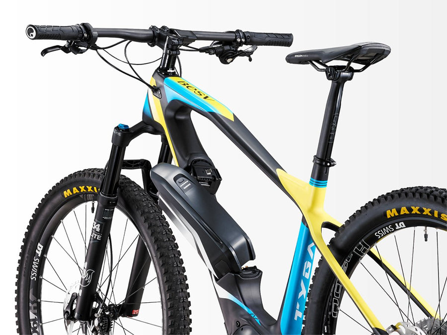 BESV TRS1 Carbon Frame-Electric Bicycle-BESV-Matte Black / Blue / Neon Yellow-Voltaire Cycles of Highlands Ranch Colorado