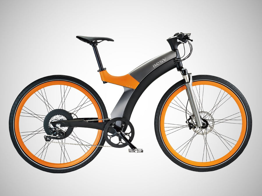 BESV LX1 - Sport E-Bike Hybrid City and Touring Bicycle-Electric Bicycle-BESV-Orange-Voltaire Cycles of Highlands Ranch Colorado