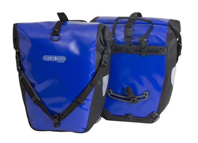 Ortlieb Back-Roller Classic (pair)-Bicycle Panniers-Ortlieb-Ultramarine/Black-Voltaire Cycles of Highlands Ranch Colorado