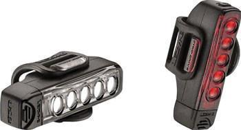 Lezyne Strip Drive Front 100/Rear 25 Lumen USB Rechargeable Headlight and Taillight Pair-Bicycle Lights-Lezyne-Voltaire Cycles of Highlands Ranch Colorado
