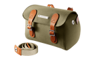 Brooks England Millbrook Holdall Handlebar / Seat Bag-Bicycle Handlebar Bags-Brooks England-Green/Honey-Voltaire Cycles of Highlands Ranch Colorado