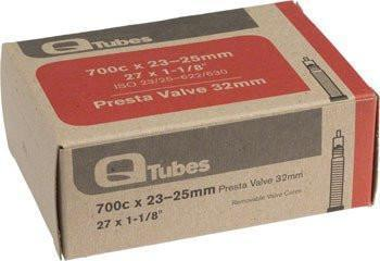 Q-Tubes 700c x 23-25mm 32mm Presta Valve Tube 125g-Bicycle Tube-Qtubes-Voltaire Cycles of Highlands Ranch Colorado