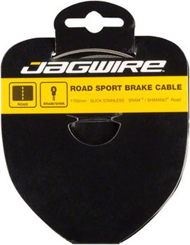 Jagwire Sport Brake Cable Slick Stainless 1.5x1700mm SRAM/Shimano Road-Bicycle Brake Components-Jagwire-Voltaire Cycles of Highlands Ranch Colorado