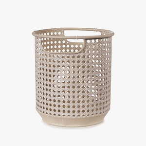 Metal Rattan look pot planter