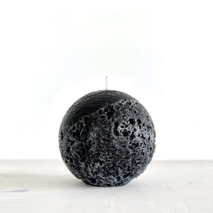 Moon Sphere Candle Black