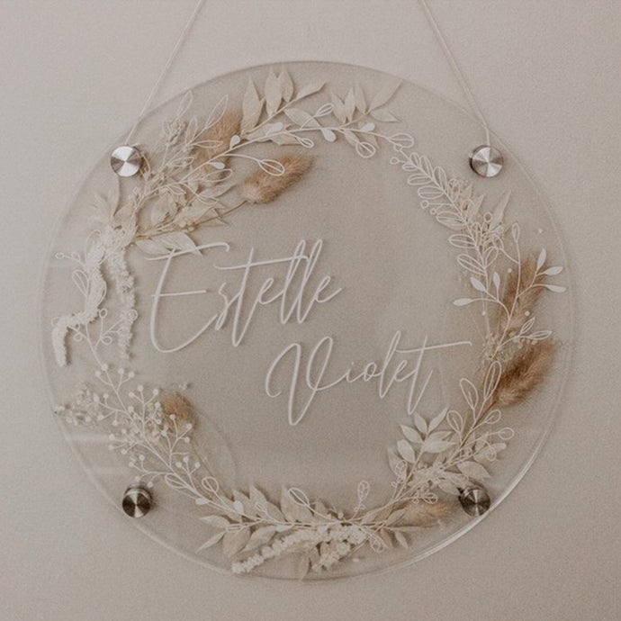 ***FEBRUARY PRE-ORDER*** Personalised Acrylic pressed flower plaque