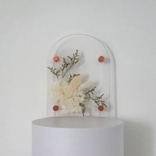 Load image into Gallery viewer, Eden flourish A5 Arched pressed flower plaque