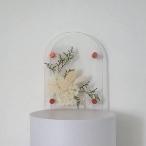 Eden flourish A5 Arched pressed flower plaque