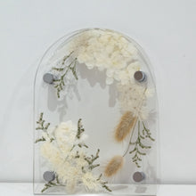 Load image into Gallery viewer, Eden arbour A5 Arched pressed flower plaque