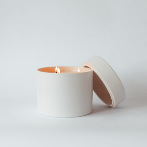 x-large Blanc ceramic candle