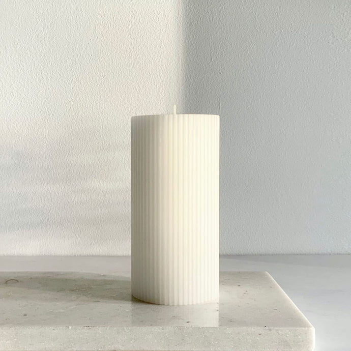 Ripple column Candle Warm White