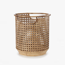 Load image into Gallery viewer, Metal Rattan look pot planter