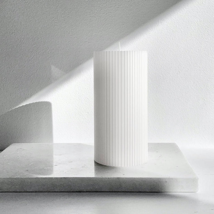 Ripple column Candle Pure White