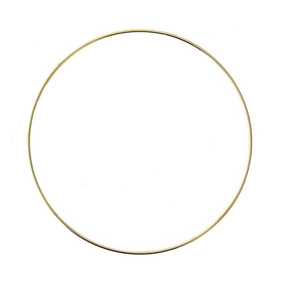 **FEBRUARY PRE-ORDER** Gold hoop wreath