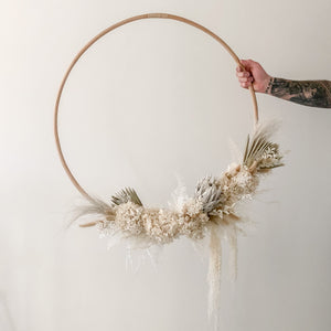 *** PICK UP ONLY *** FEBRUARY PRE-ORDER***  75cm Rattan hoop wreath