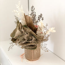 Load image into Gallery viewer, X-large dried and preserved arrangement in Rattan planter