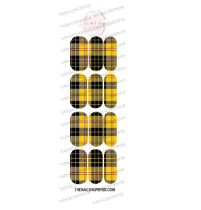DECAL - 13 YELLOW PLAID