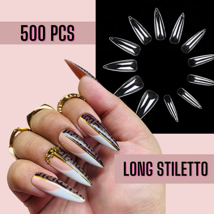 Long Stiletto Nail Tips