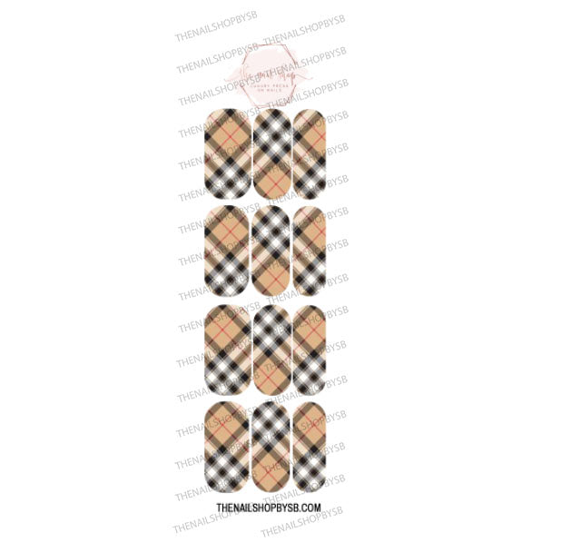 DECAL - 6 MUSTARD DIAGONAL PLAID
