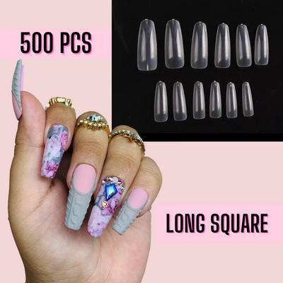 Long Square Nail Tips