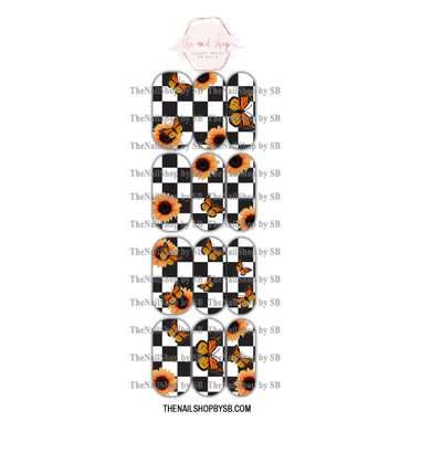 DECAL - XL CHECKERED SUNFLOWER