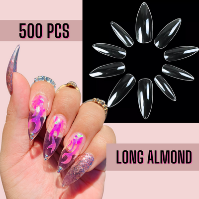 Long Almond Nail Tips