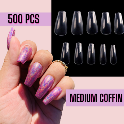 Sculpted  Medium Coffin Nail Tips