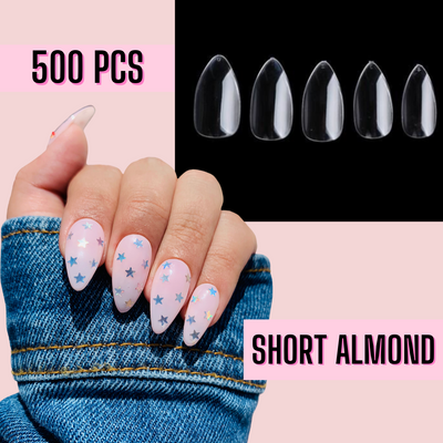 Short Almond Nail Tips