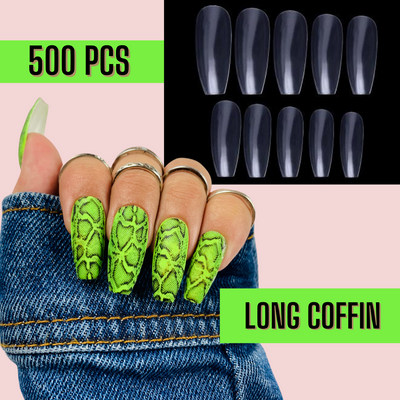 Long Coffin Nail Tips