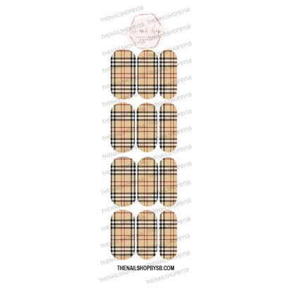 DECAL-MUSTARD PLAID
